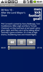 Spurs Show Android App