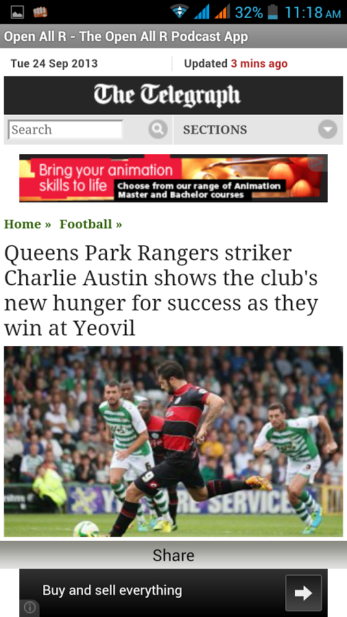Open All Rs News Android Telegraph screenshot